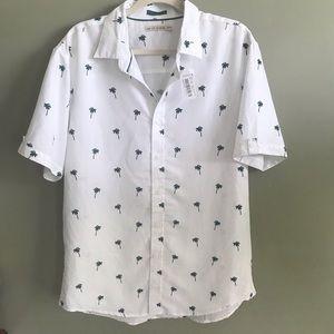 Age of Wisdom Mens palm tree print shirt